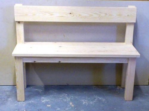 Rustic  6ft Farmhouse bench with back support  kitchen dining room furniture   4. Best 25  Bench with back ideas on Pinterest   Wood bench with back