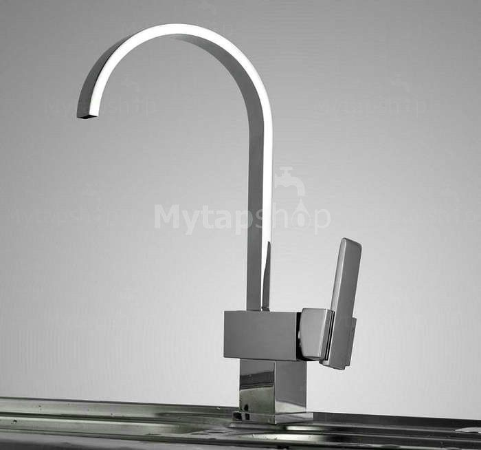 Chrome Finish Solid Brass Kitchen Tap T0721
