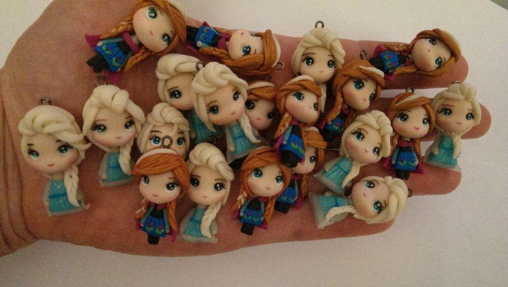 Elsa & Anna clay