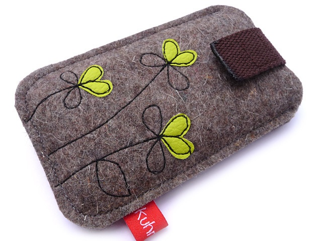 "Handytasche ""Petite Fleur"" limone (iPhone 4)"