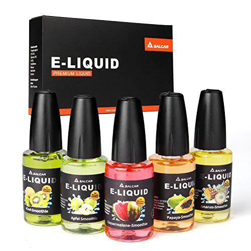 Salcar® 5x20ml Set de colores de Premium E-Líquido para cigarrillos electrónicos, e-shisha, altamente recomendable (batido de manzana, batido de sandía, batido de kiwi?batido de papayo?batido de ananás) 0,0mg nicotina #Salcar® #colores #Premium #Líquido #para #cigarrillos #electrónicos, #shisha, #altamente #recomendable #(batido #manzana, #batido #sandía, #kiwi?batido #papayo?batido #ananás) #nicotina