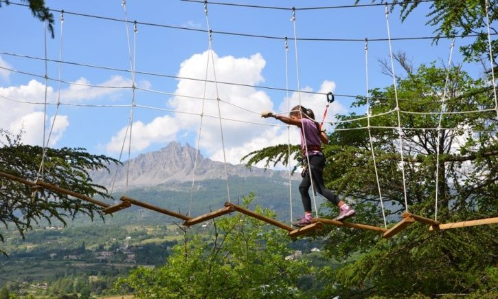 High and mighty … on a family holiday in the southern French Alps.