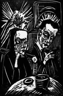 La lecture, par Erich Heckel