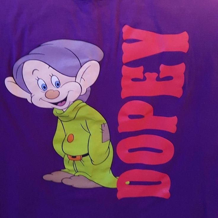 Walt Disney Snow White 7 Dwarfs Dopey Character Anvil T-Shirt Size large Purple #Anvil #Disney #7dwarfs #snowwhite