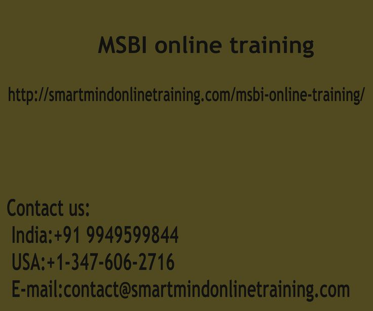 "MSBI online training All through this MSBI coaching program, you are going to jump into creating an ETL Solution Architecture   we'll commonly cover Execute and Keep and the best way to to create an Evaluation Solution Architecture Using ms sql-server Analysis solutions ms sql-server Analysis Services MSBI online training.  <a href="" http://smartmindonlinetraining.com/msbi-online-training/""> MSBI Online training </a>"