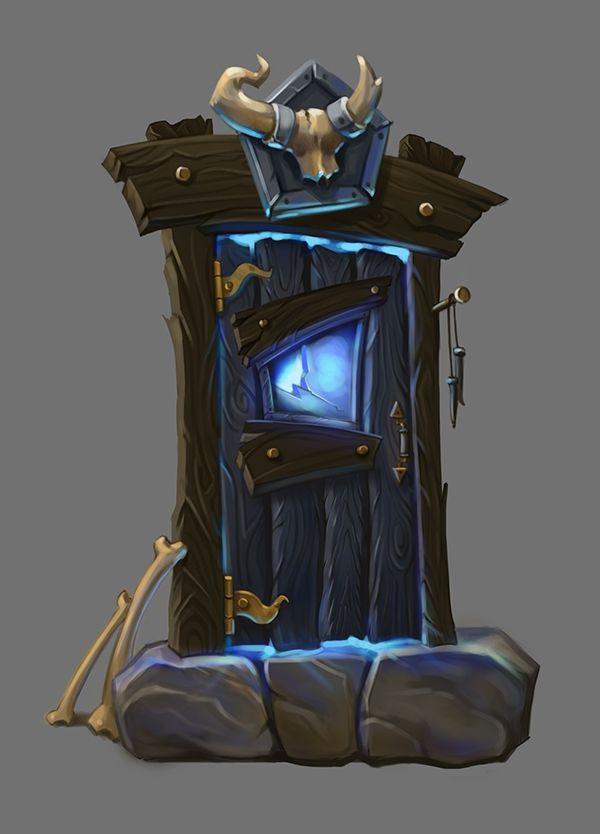 Fantasy door concept on Behance