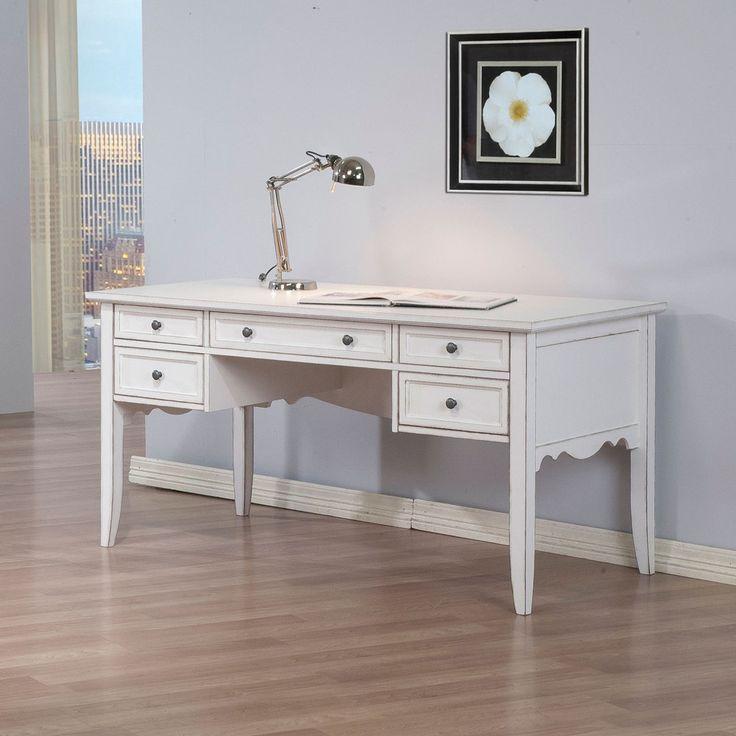 White Classics Writing Desk   Overstock.com