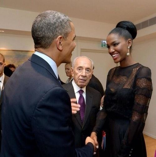 On Thursday, Aynaw met President Obama at the state dinner hosted by Israel's president Shimon Peres.