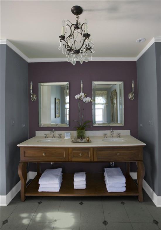 Blue And Purple Master Bathroom: Best 25+ Dark Purple Bathroom Ideas On Pinterest