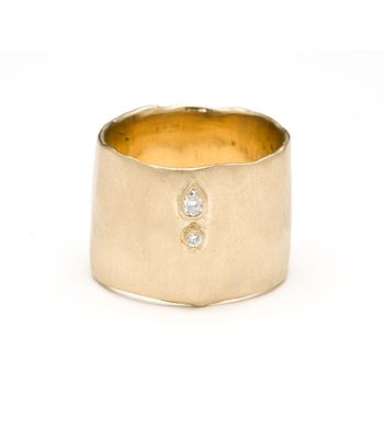 Wide Faceted Band 14K yellow gold $2.900