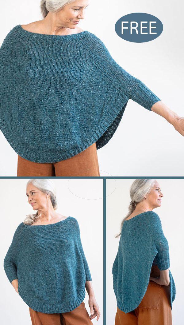 Free Knitting Pattern for Rosaline Sweaters