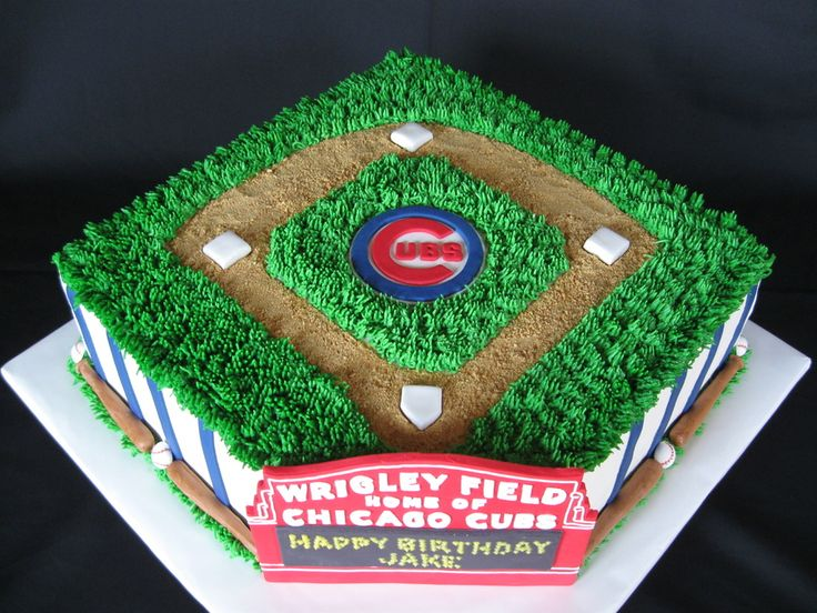 Chicago Cubs Birthday Cake