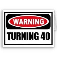 Can't believe I'm turning 40 this year ! I was just 16 two years ago.. How time flys