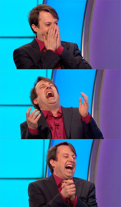 David Mitchell (my favorite British comedian) laughing his head off on Would I lie to you? I laugh about this hard every time I watch it.