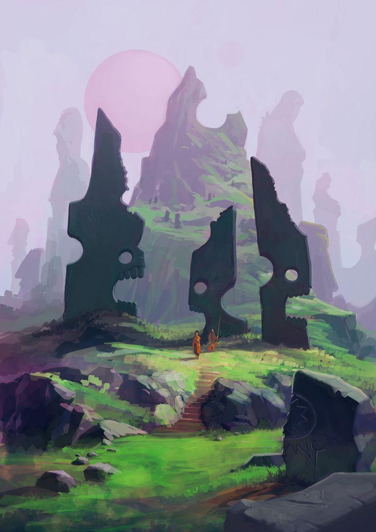 Strange worlds concept design 01, Edin Durmisevic on ArtStation at https://www.artstation.com/artwork/r5YoL