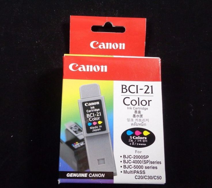 Canon ink cartridge genuine BCI-21 BCI21 Color S100 BJC-2000 BJC-400 BJC0500  #Canon