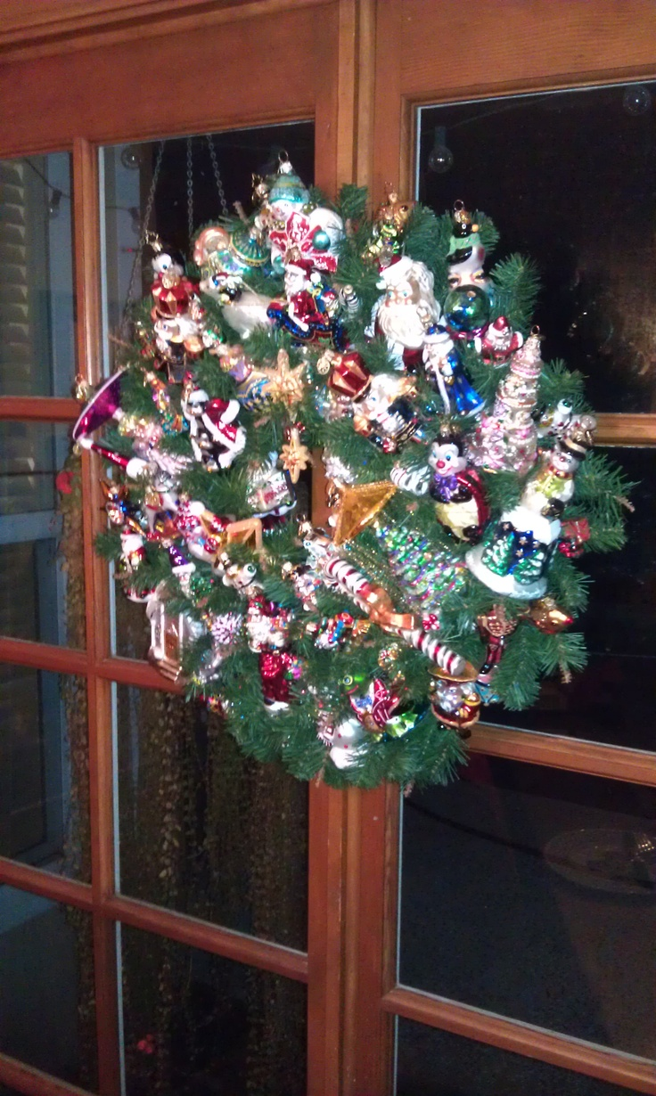 Beautiful glass ornaments - Christopher Radko Broken And Damaged Ornaments Put To Very Good And Beautiful Use