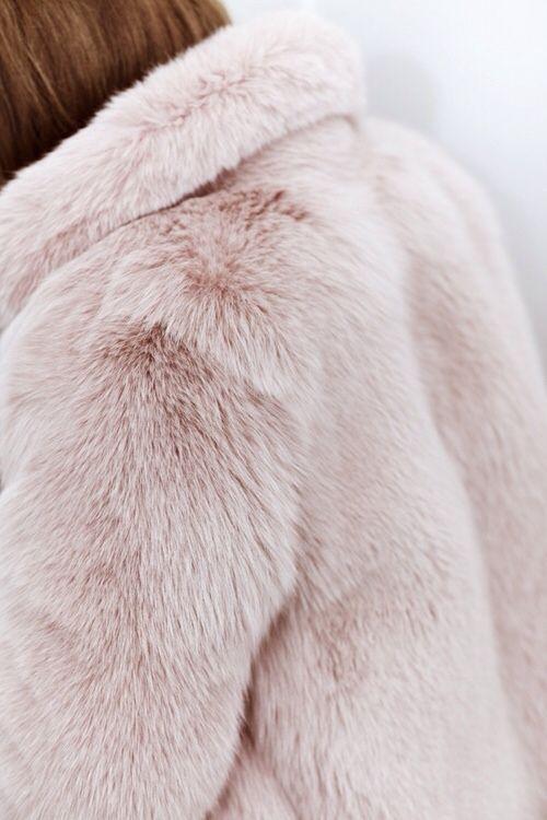 pink furry coat AW