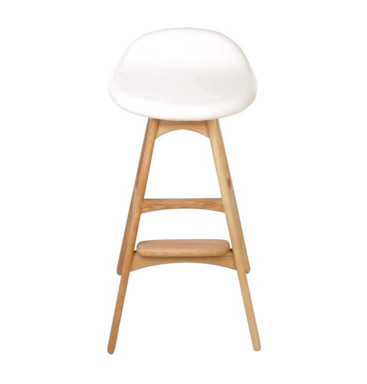 Replica Erik Buch Bar Stool 66cm - Ash by Erik Buch - Matt Blatt