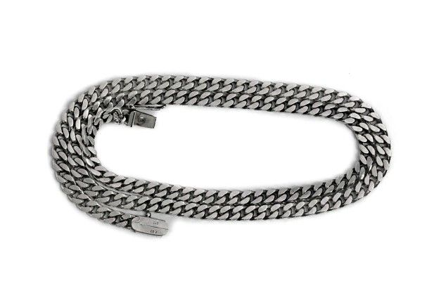 Mens Curb Chain Necklace Long Silver Jewelry https://tezsah.com/shop/en/jewelry/necklace/1538/mens-curb-chain-necklace-long-silver-jewelry