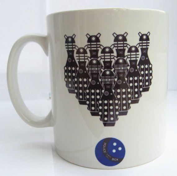 Doctor Who Dalek Ten Pin Bowling Ceramic Mug
