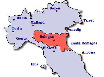 Ober Italien - Regionen - Emilia Romagna