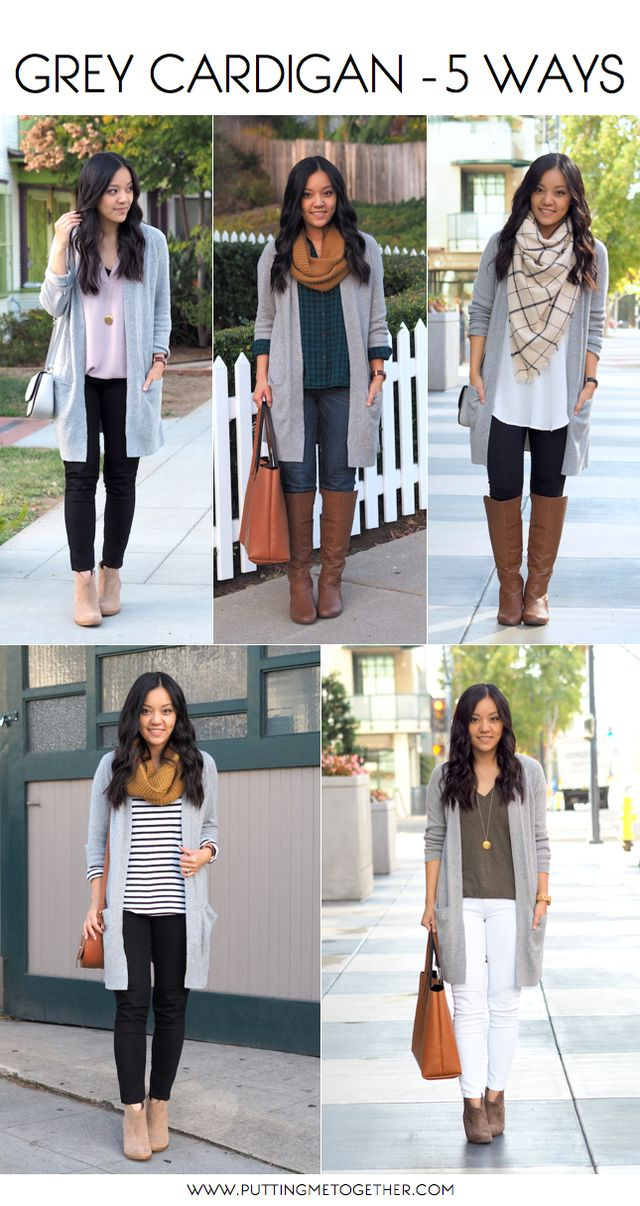 5 Outfits With a Grey Cardigan