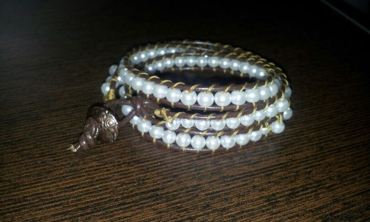 Leather pearl bracelet!