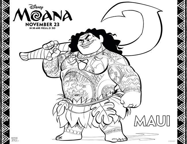 Moana Coloring Page - demigod Maui