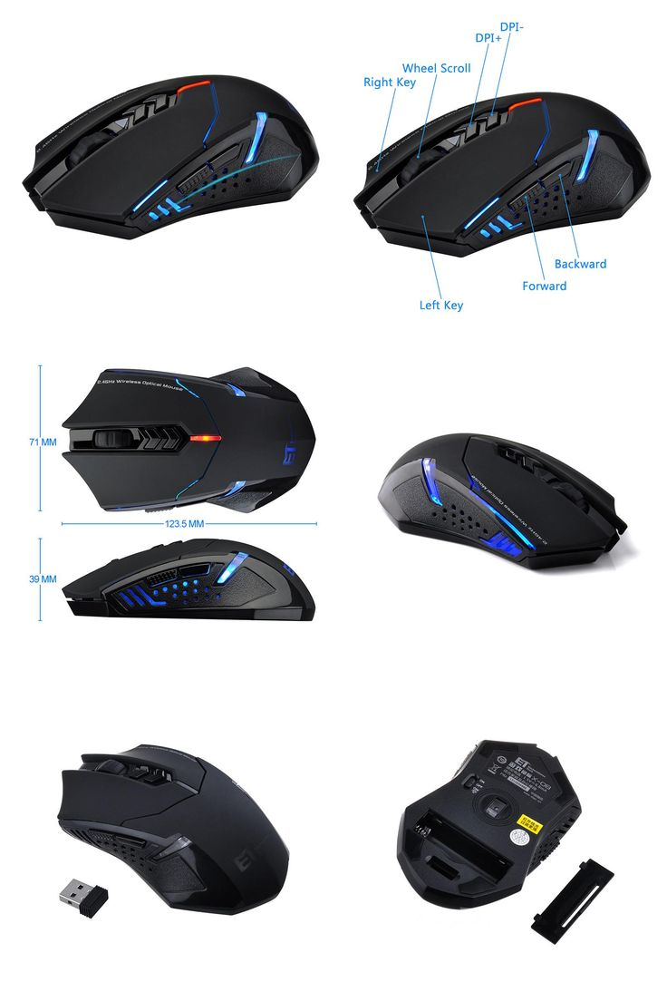 [Visit to Buy] High Quality ET X-08 2000DPI Adjustable 2.4G Wireless Mouse For Professional Gaming Mouse sem fio Mice raton inalambrico #Advertisement