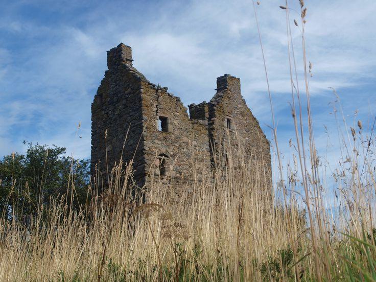 Drumin Castle, near the Glenlivet Distillery in Speyside, overlooks the Rivers Livet and Avon