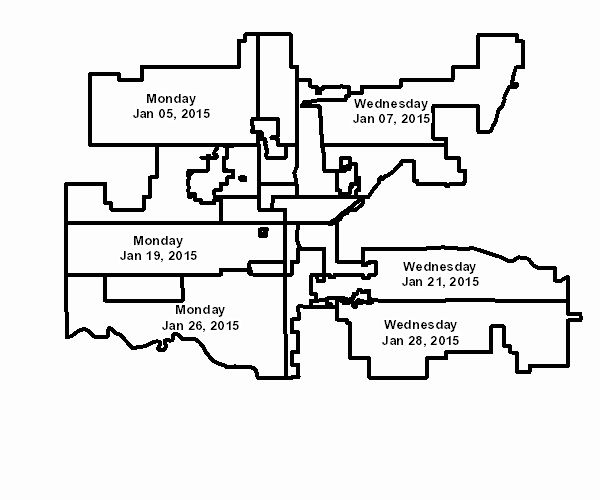 "City of Oklahoma City | Bulky Waste Pickup: schedule of big trash day to look for ""junk"""