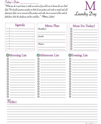 17 best images about Home Management Binder on Pinterest 2016 - free daily planner download