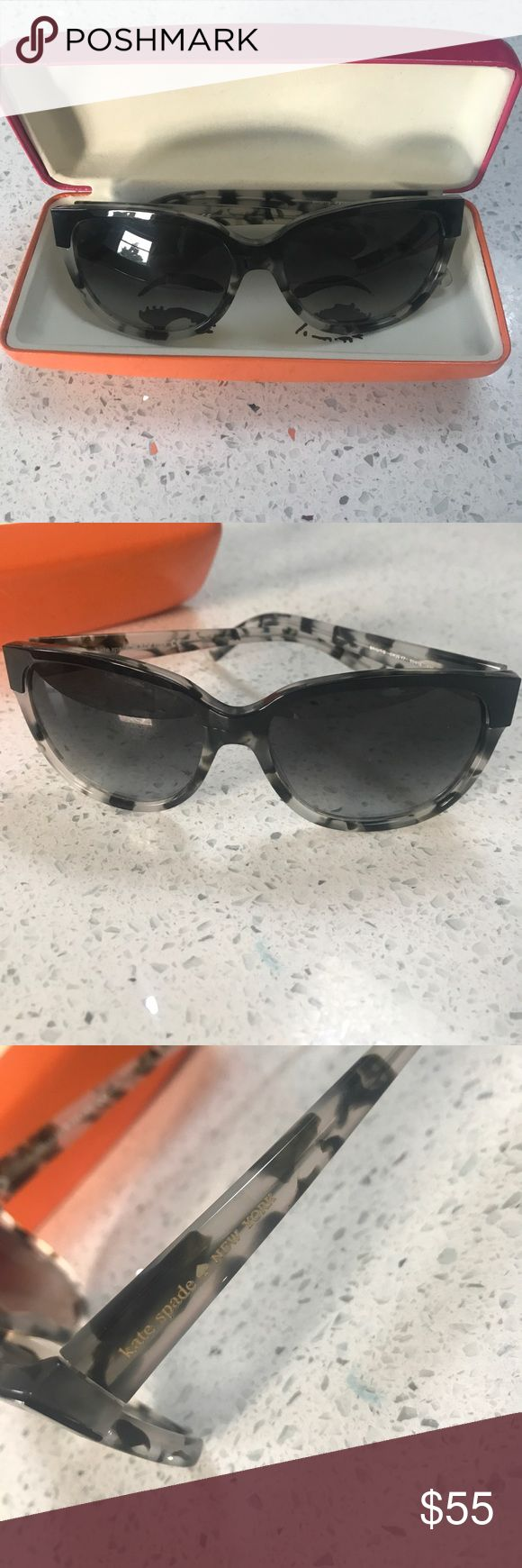 Kate Sapde sunglasses Brigit Like new Kate Spade sunglasses - model: Brigit.  Hardly worn no scratches or sings of wear. Comes with case (the case is in fair condition- a few scuffs) kate spade Accessories Sunglasses
