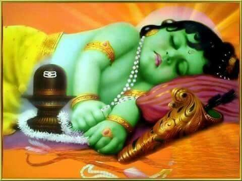 Baby Ram with Shiv Ling