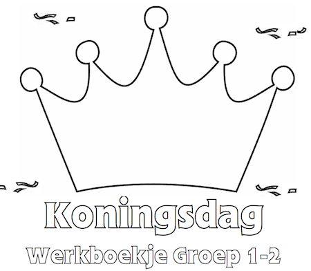 Koningsdag Werkboekje Groep 1-2