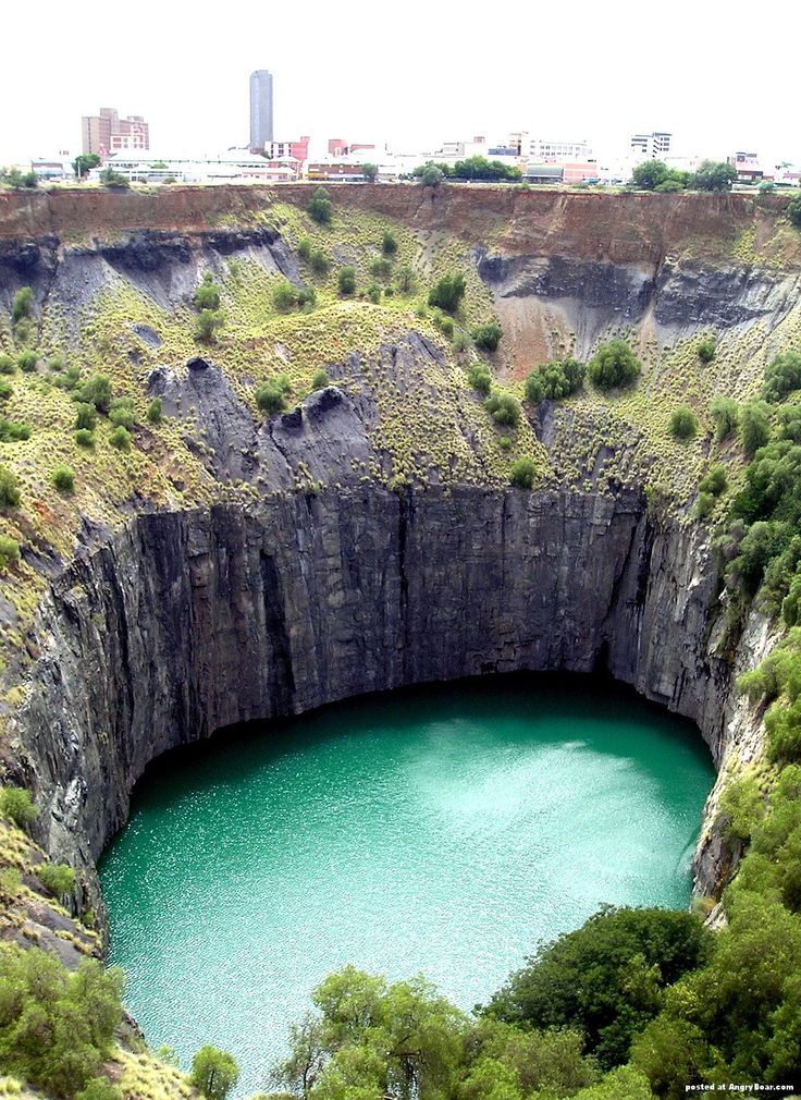 The Big Hole, Kimberly, South Africa. Man made as a result of mining for gold.
