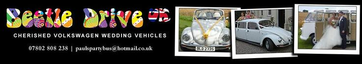 Beetle Drive UK will be available for wedding car hire in the Hertfordshire, Bedfordshire, Buckinghamshire and Middlesex areas.