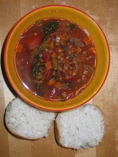 soupe aux lentilles dans la mijoteuse - malm
