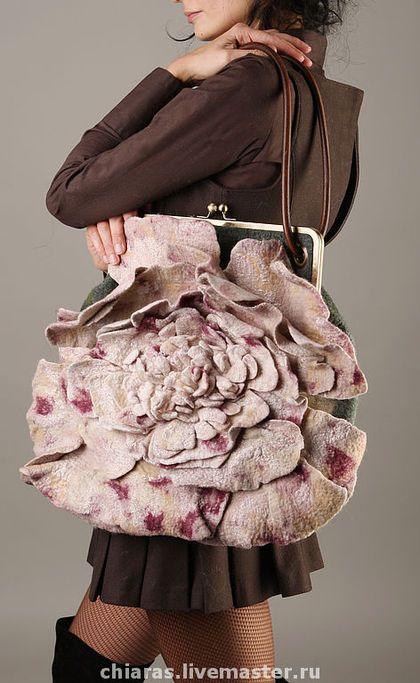 """Женские сумки ручной работы. Ярмарка Мастеров - ручная работа сумка ручной работы """"пион""""-. Handmade."""