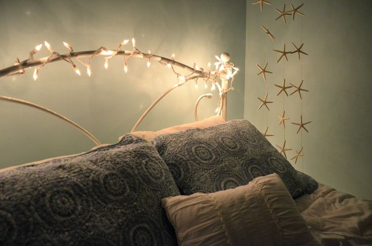 Beach Theme Bedroom And Christmas Lights Decor For The Home