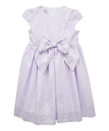 Look at this #zulilyfind! Lavender Floral Cap-Sleeve Swing Dress - Toddler & Girls #zulilyfinds