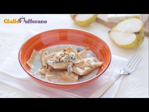 Ravioli integrali con gorgonzola e pere