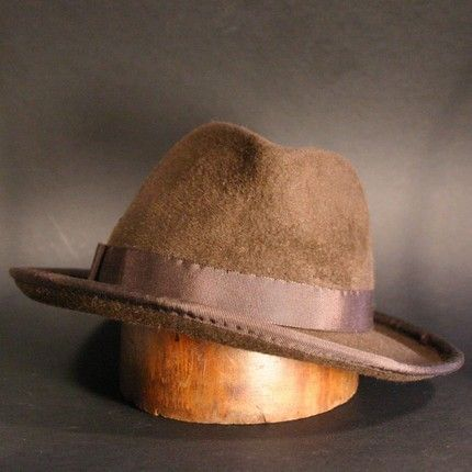 Chocolate Brown Fedora Hat for Men or Women, Archie Goodwin, Made to Order. MoeSewCoMillinery, via Etsy.