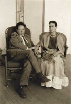 Frida Kahlo and Diego Rivera on Deck, 1930