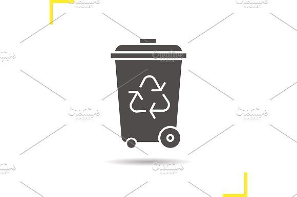 Recycle bin icon. Vector by Icons Factory on @creativemarket