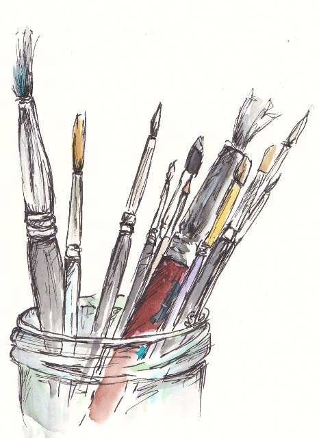 Drawing Straight Lines With Brush In Photo : My favourite paint brushes http traceyfletcherking