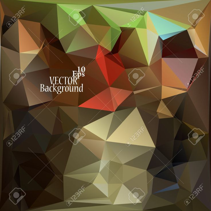 Multicolor (Brown, Rojo, Verde) Plantillas Del Diseño. Fondo Geométrico Triangular Abstracta Moderna Del Vector. Ilustraciones Vectoriales, Clip Art Vectorizado Libre De Derechos. Pic 32719952.