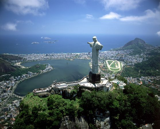 """The 105-foot-tall (38-meter-tall) """"Christ the Redeemer"""" statue in Rio de Janeiro, Brazil, was among the """"new seven wonders of the world"""" announced July 7 following a global poll to decide a new list of human-made marvels"""