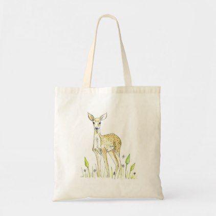 Handgemalte Deer Design Tote Bag | Zazzle
